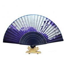 Éventail asiatique en tissu - jindalae violet
