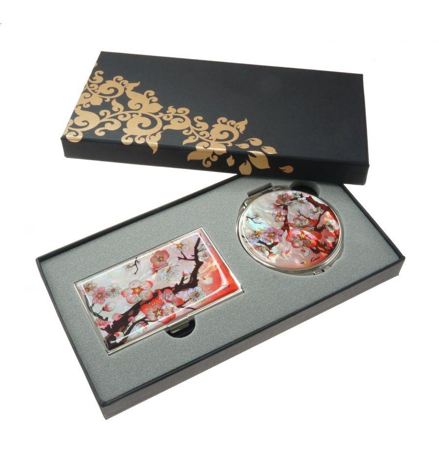 cadeau original pour couple coffret porte cartes et miroir. Black Bedroom Furniture Sets. Home Design Ideas