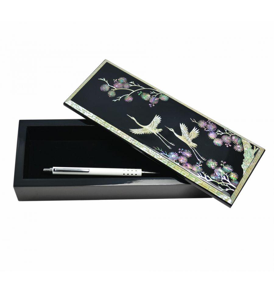 Accessoires bureau de luxe artisanat asie nacre naturelle for Accessoire bureau luxe