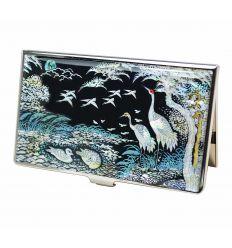 Porte-cartes de visite - Hérons et pin (Songhak)