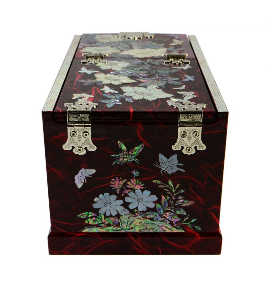 grande boite bijoux rouge avec miroir design boite a outils avec tiroirs. Black Bedroom Furniture Sets. Home Design Ideas