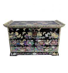 Boite à bijoux de luxe quatre tiroirs design Fleurs de Pivoines