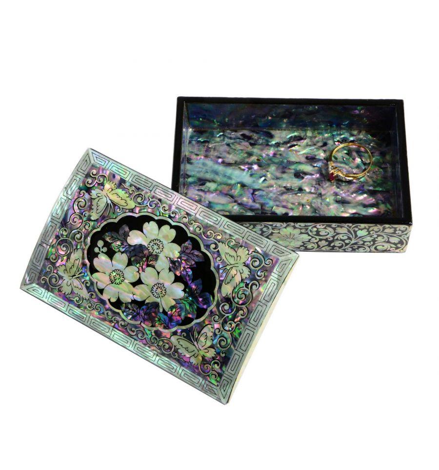 petite boite bijoux en nacre artisanat de luxe cor en. Black Bedroom Furniture Sets. Home Design Ideas