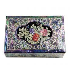 Boite à bijoux Full Nacre - Design Rose
