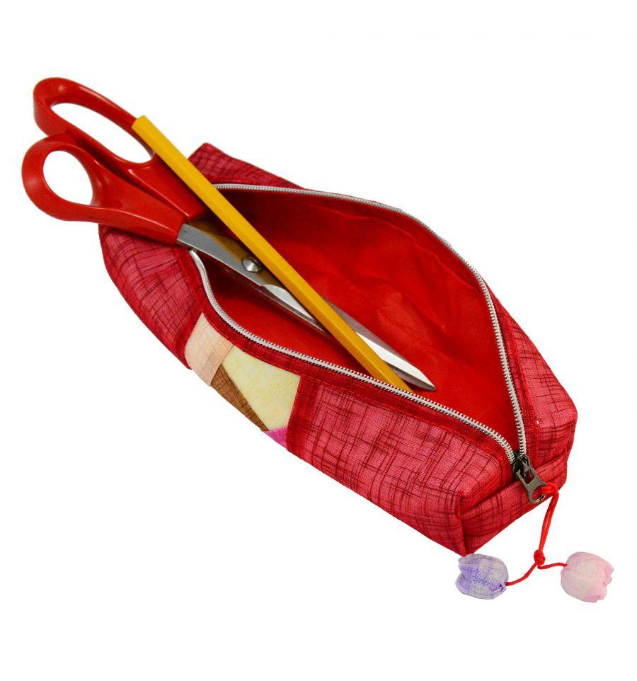 Trousse rouge design etui scolaire pas cher for Trousse de couture pas cher