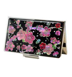 Porte-cartes fleurs de pruniers - Maewha