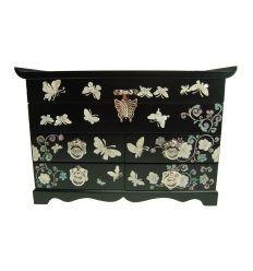 Grande boite à bijoux design de couleur noire