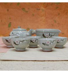 Magnifique ensemble traditionnel pour la degustation d'un thé entre amis