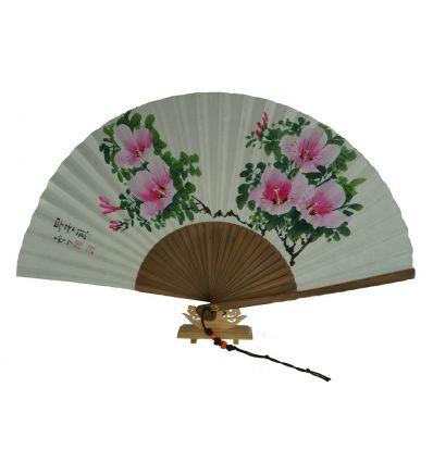 Eventail Coréen - Design fleurs
