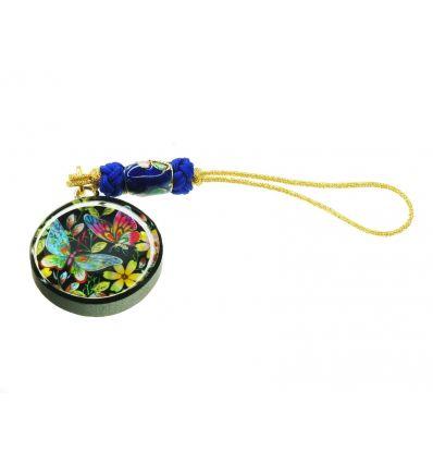 Pendentif téléphone papillons - bijoux de nacre