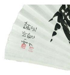 Super éventail traditionnel de Corée du Sud en papier et peint main