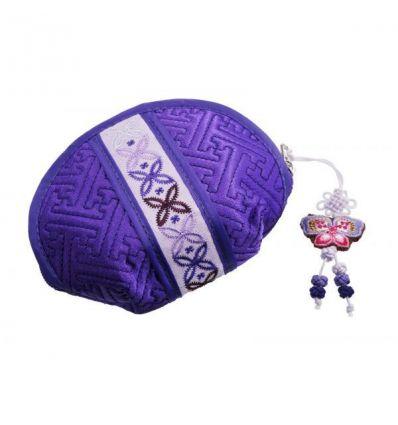 Charmant petit porte-monnaie femme aux couleurs violette