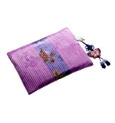 Porte-monnaie femme vintage de couleur violet aux belles broderies décoratives