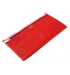 Portefeuille original de couleur rouge avec des banderolles colorées