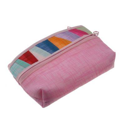 Porte-monnaie rose bonbon design pojagi