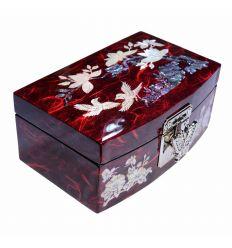 Les cotés de la boite laisse apparaitre les fibres du papier traditionel Hanji