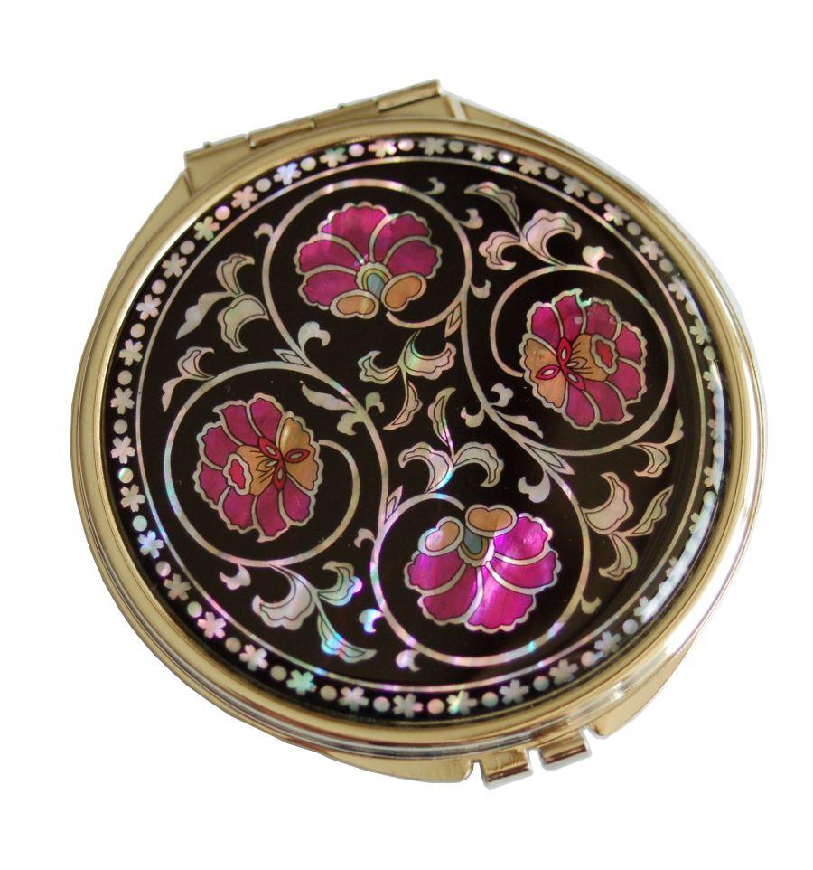 Miroir de poche design arabesque de fleurs en nacre for Arabesque style decoration
