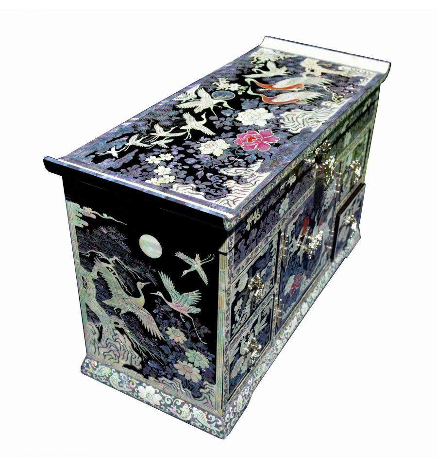 grande boite bijoux de luxe en nacre. Black Bedroom Furniture Sets. Home Design Ideas