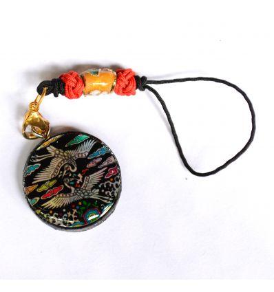 Pendentif décoratif en nacre design couple de hérons et liere