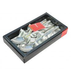 Les baguettes sont bien protégées dans un coffret avec du velours gris