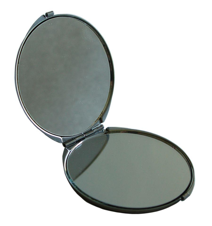 miroir de poche artisanal en nacre double face 2x. Black Bedroom Furniture Sets. Home Design Ideas