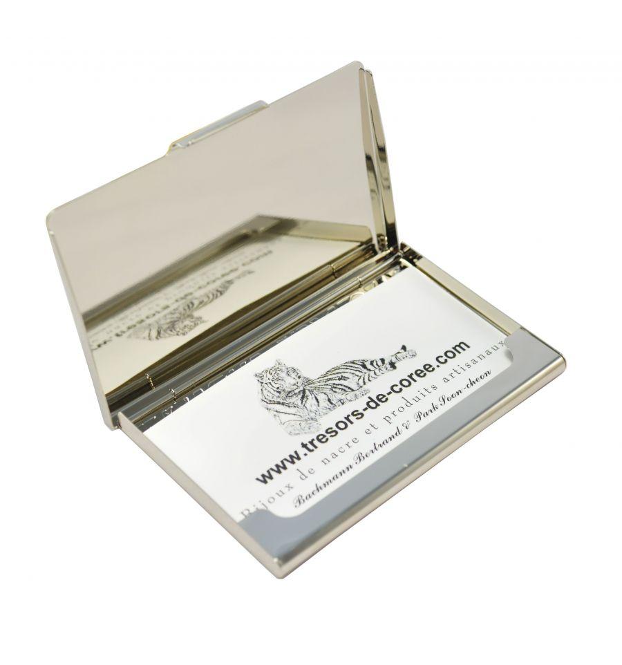 Elegant Porte Cartes De Visite Design Moderne Patchwork Coren Pojagi Dcors Nacre Vritable Pcmo Cadeaux Vacances
