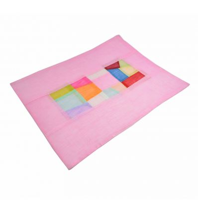 Napperons de table asiatique  rose avec un patchwork coloré
