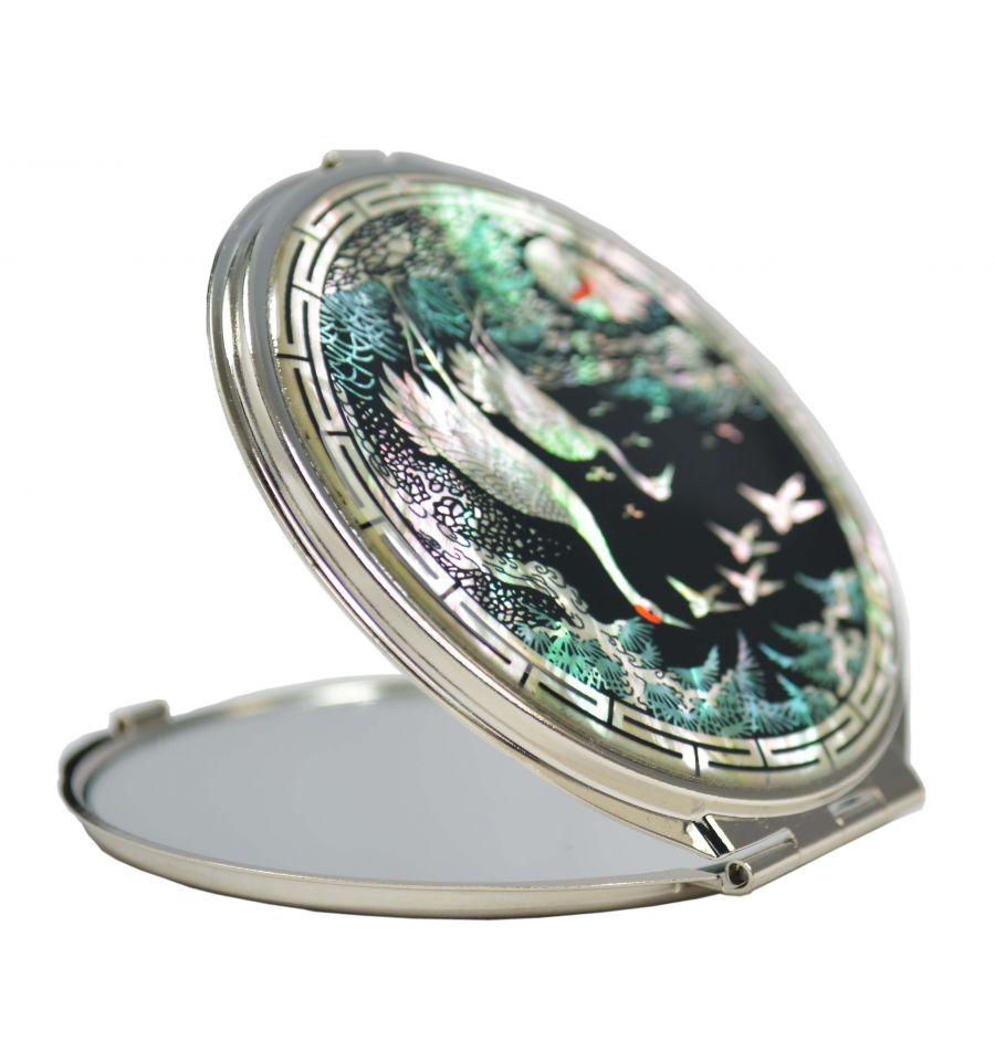 Beaux miroirs de poche artisanaux en nacre for Miroir de poche