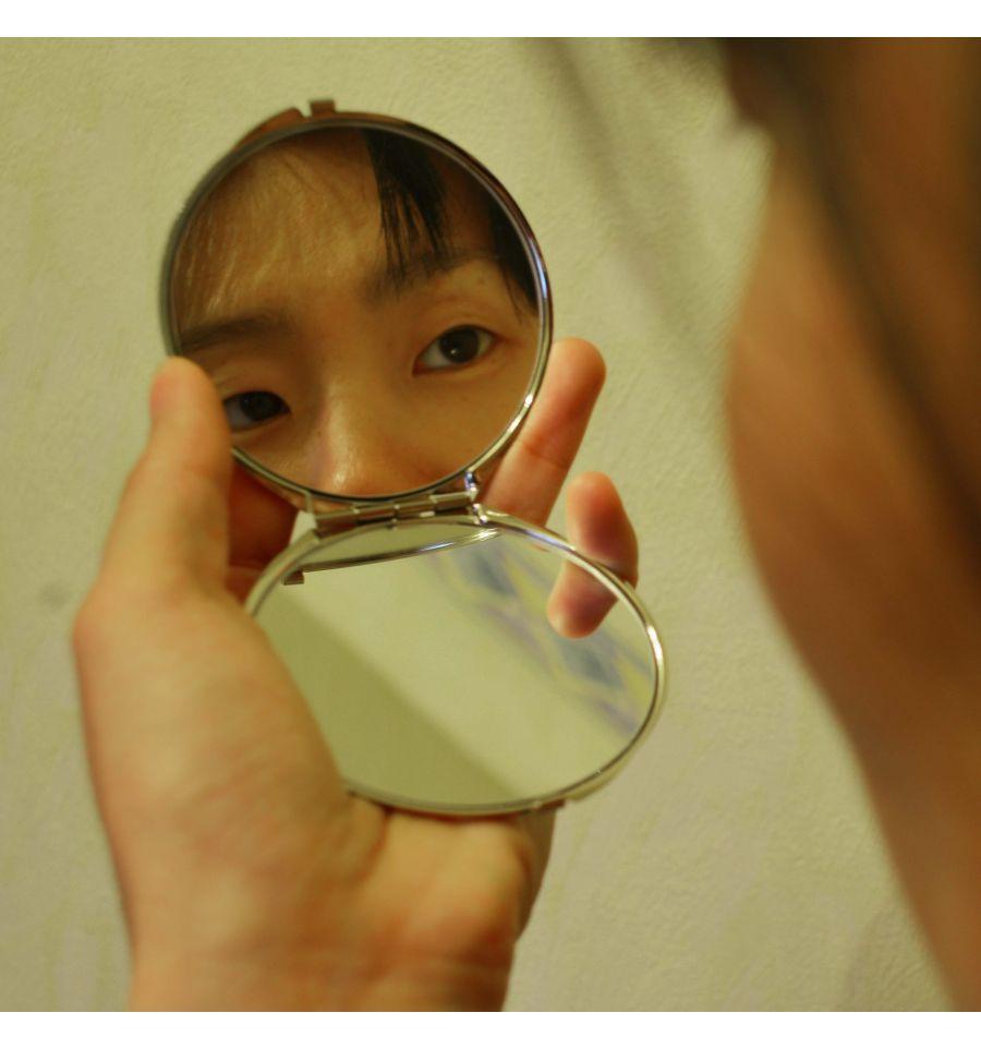 Miroir de poche papillons asiatique accessoires femmes luxe for Miroir fantaisie design