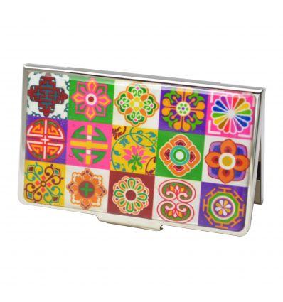 Elegant Porte Cartes De Visite Design Moderne Patchwork Coren Pojagi Dcors Nacre Vritable Pcmo