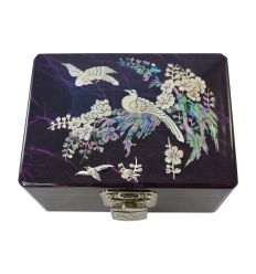 Belle petite boite à bijoux violette pour fille
