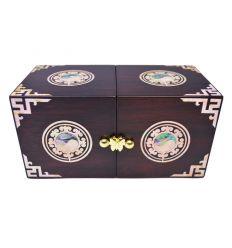 Boite à bijoux en bois, Le Yin et le Yang