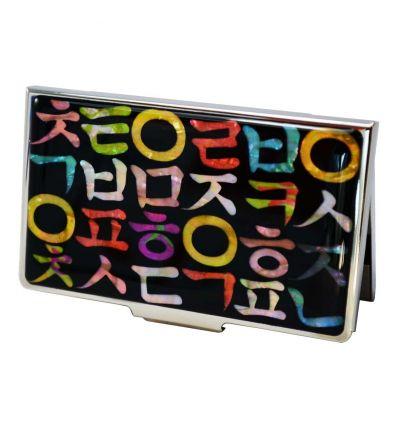 Porte-cartes de visite original design alphabet Coréen