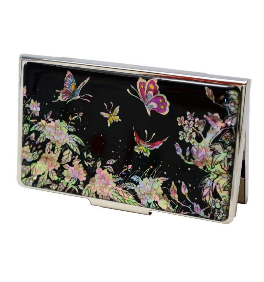 Elegant Porte Cartes De Visite Design Moderne Patchwork Coren Pojagi Dcors