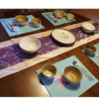 Grand chemin de table violet