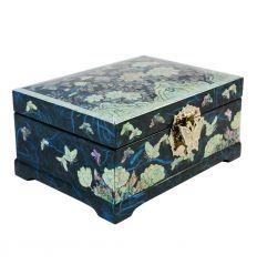 La couleur bleu nuit de la boite provient d'un papier traditionnel Coréen