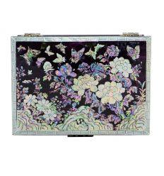 La couleur violette de la boite provient d'un papier traditionnel Coréen