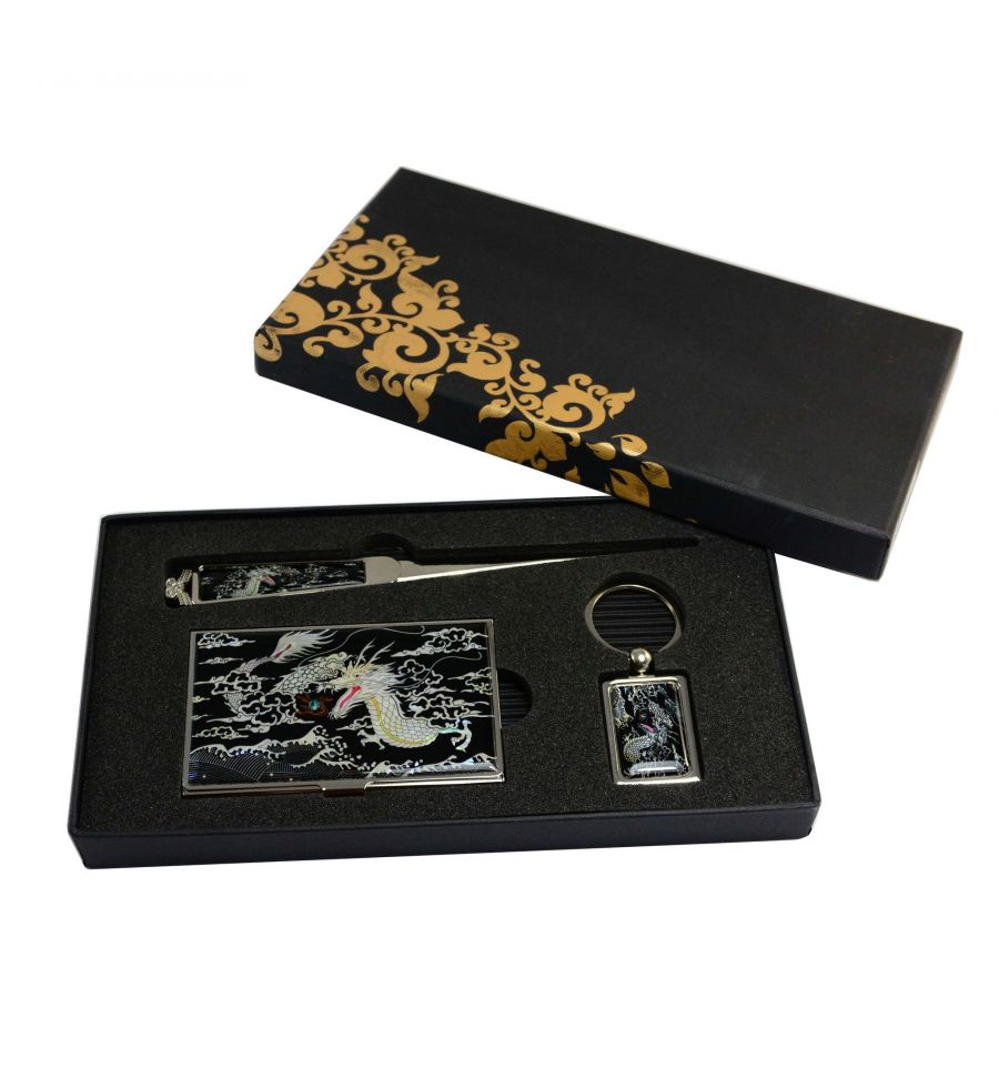 Coffret cadeau pour le bureau set 3 elements nacr s for Set de bureau fantaisie
