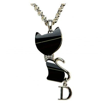 Parures bijoux chat en Nacre blanche ou Onyx noire