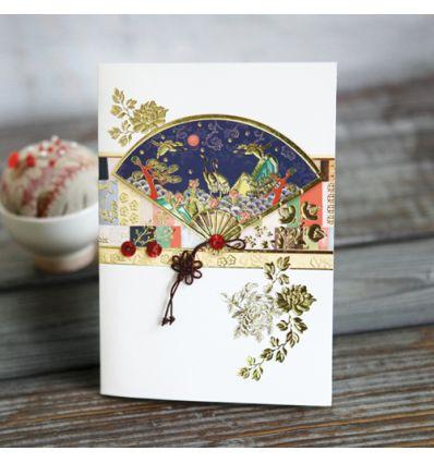 Carte design éventeil bleu