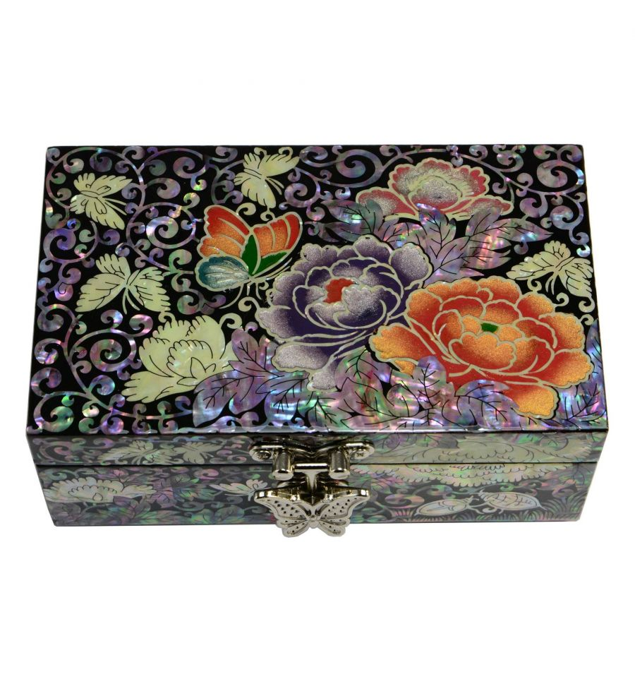 boite bijoux pour bagues fantaisie fleurs de pivoines. Black Bedroom Furniture Sets. Home Design Ideas
