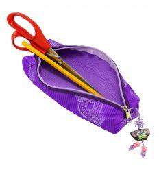 Trousse scolaire violette