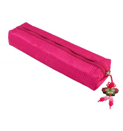 Trousse à crayons en tissu rose, étui pour fille