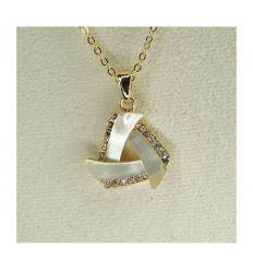 Bijoux Triangle de Nacre avec fond doré