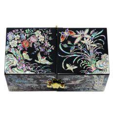 Boite a bijoux Noire - Design Nature Asiatique en Nacre
