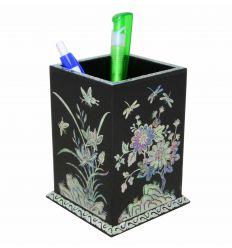Pot à crayons noir design 4 plantes - Sagunja