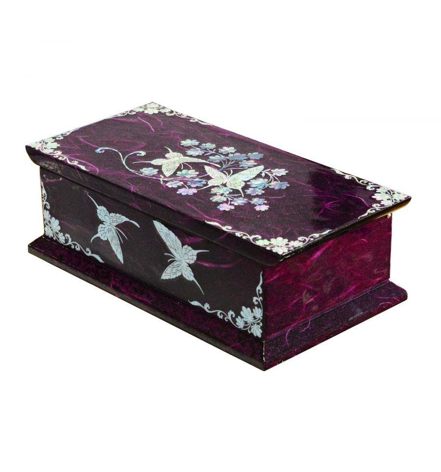 boite a bijoux fantaisie violette rangement pour bijoux et bagues. Black Bedroom Furniture Sets. Home Design Ideas