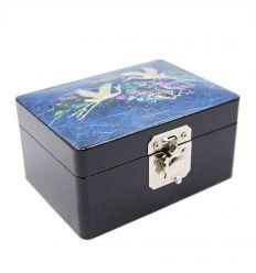 Belle petite boite à bijoux bleu