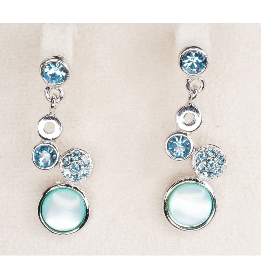 bien pas cher grand choix de meilleure qualité Parure en Nacre Bleu Design Grappe   Bijoux Asiatique Originaux