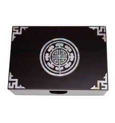 Boîtier à cartes de visite nacré design sceau Coréen